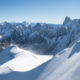 Mont blanc mountain, Alps mountain view from Aiguille du Midi, Chamonix, France